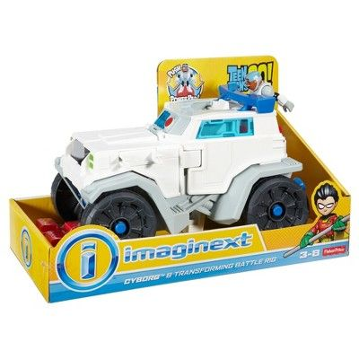 Fisher-Price Imaginext Teen Titans Go! Cyborg and Transforming Battle Rig