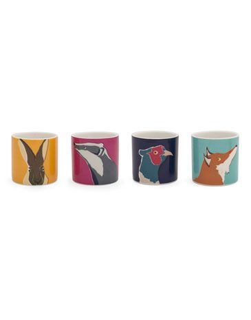 Joules null Egg Cup Set, ANIMAL.                     Simply cracking! These country character egg cups will certainly add some rustic and rural style to breakfast time. #joules #christmas #wishlist