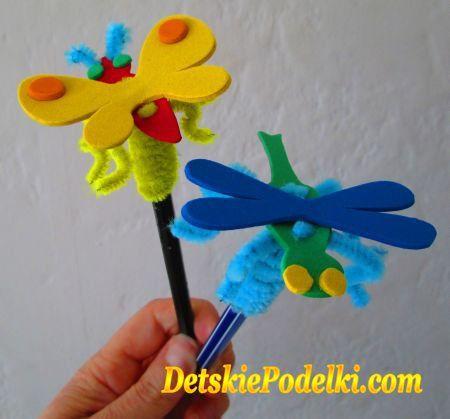 Украшения для ручек и карандашей. » Детские поделки. Детский сайт с поделками из бумаги и фетра.