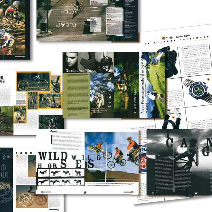 Tutto Mountain Bike restyling rivista grafica creativa impaginazione - fotoritocco