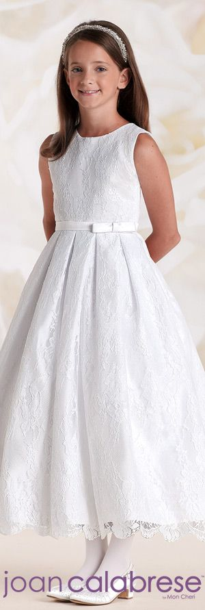 First Communion Dresses by Joan Calabrese for Mon Cheri Spring 2015 - Style No. 115325  calabresegirl.com #firstcommuniondresses