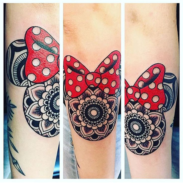 Really pretty Minnie piece done by @coire13 on @torihammerton #inkeddisney