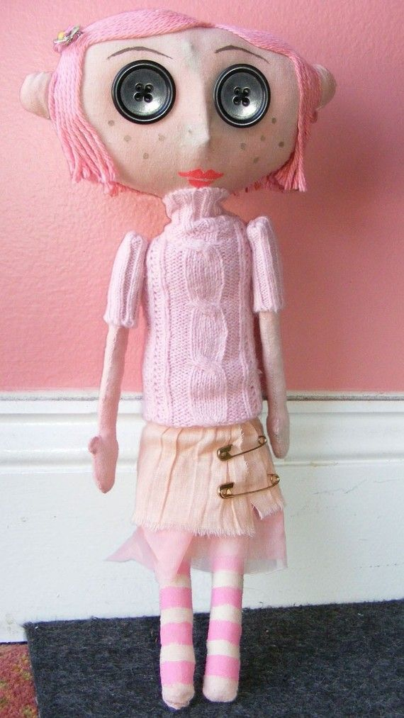 Coraline doll pattern. My daughter loves this movie! I have made a Coraline doll for her before, but it wasn't nearly this cute.