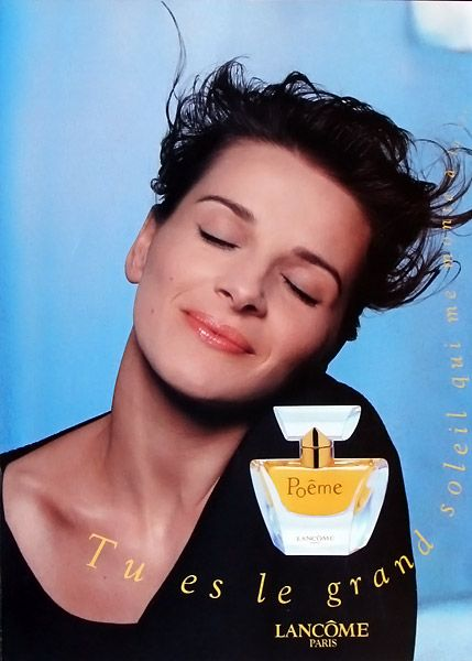 Parfum Poême par Lancôme - Juliette Binoche - 1996-1997 R