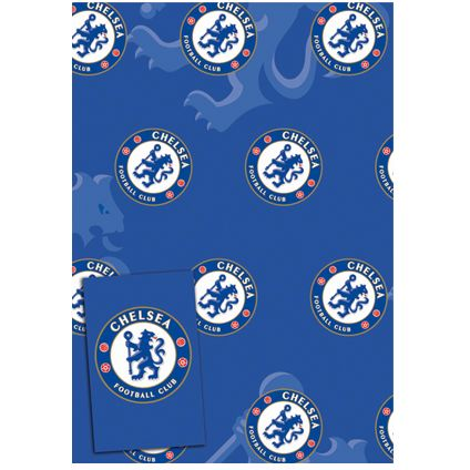 Chelsea FC Gift Wrapping Sheets and 2 Gift Tags available from Publishers with Free UK Delivery at https://www.danilo.com/Shop/Cards-and-Wrap/Gift-Wrap-and-Tags