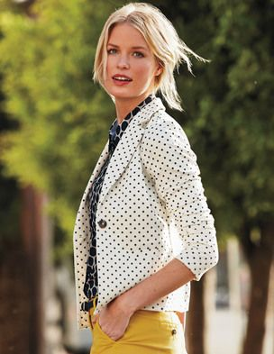 I am in LOVE with this jacket from Boden!  I just purchased it and it is stylish AND comfortable (jersey material).