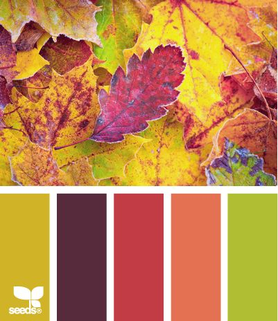 weekend colour inspiration - autumnal colour scheme