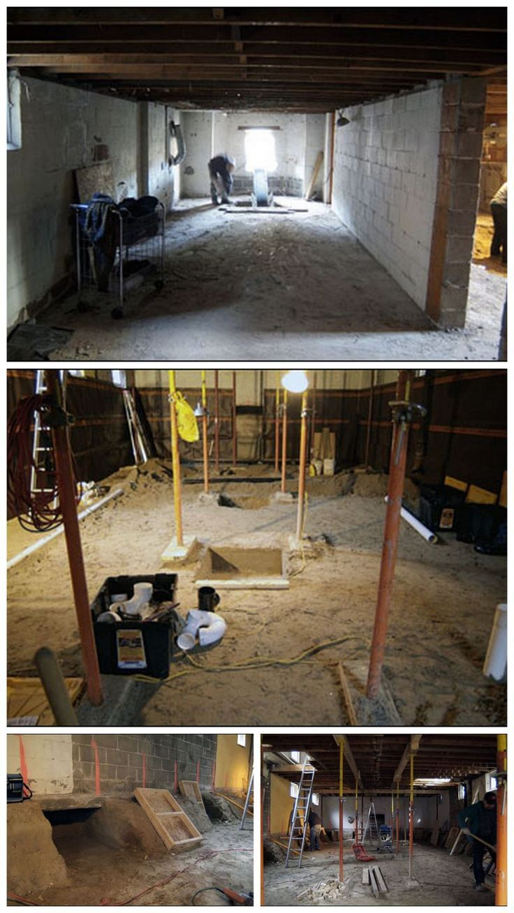 7 best crawl space to basement images on pinterest for Crawl basement
