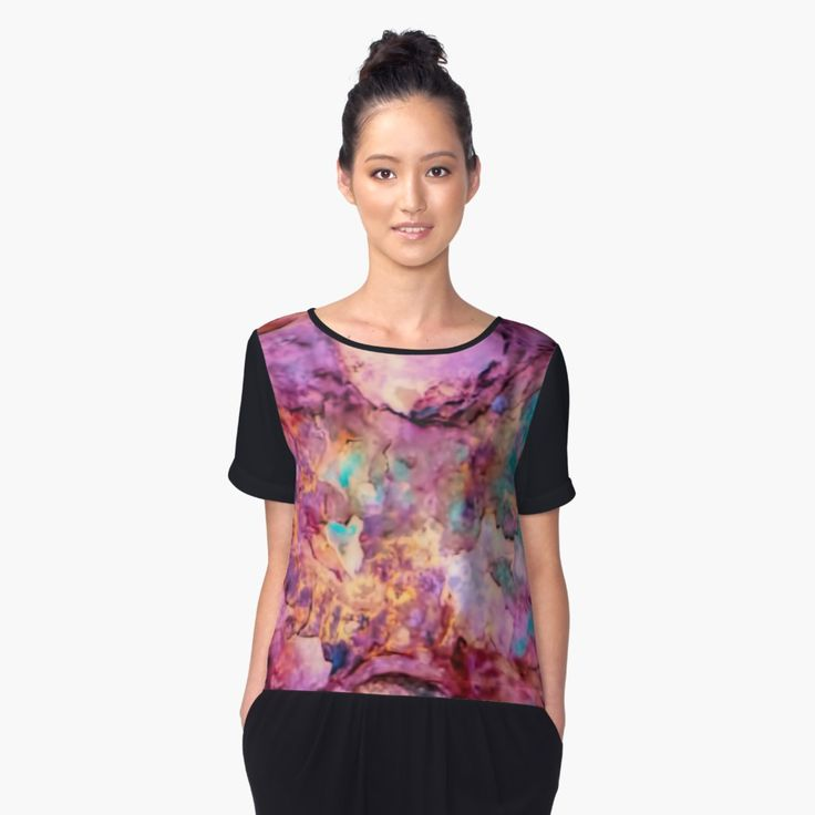 Riveting by Leslie Montgomery  Women's Chiffon Top Front  https://www.redbubble.com/people/lmontgomery/works/29452472-riveting