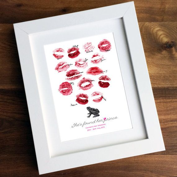Personalised Frog Prince Lipstick Guestbook  Vintage by BowAndBell