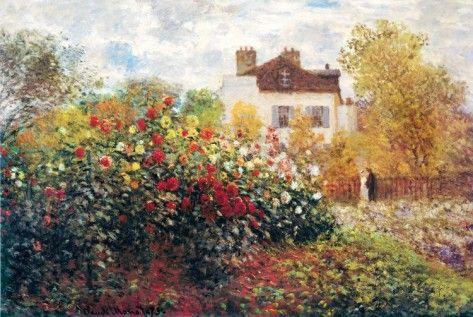 Claude Monet The Artist's Garden Art Print Poster Posters by Claude Monet - at AllPosters.com.au