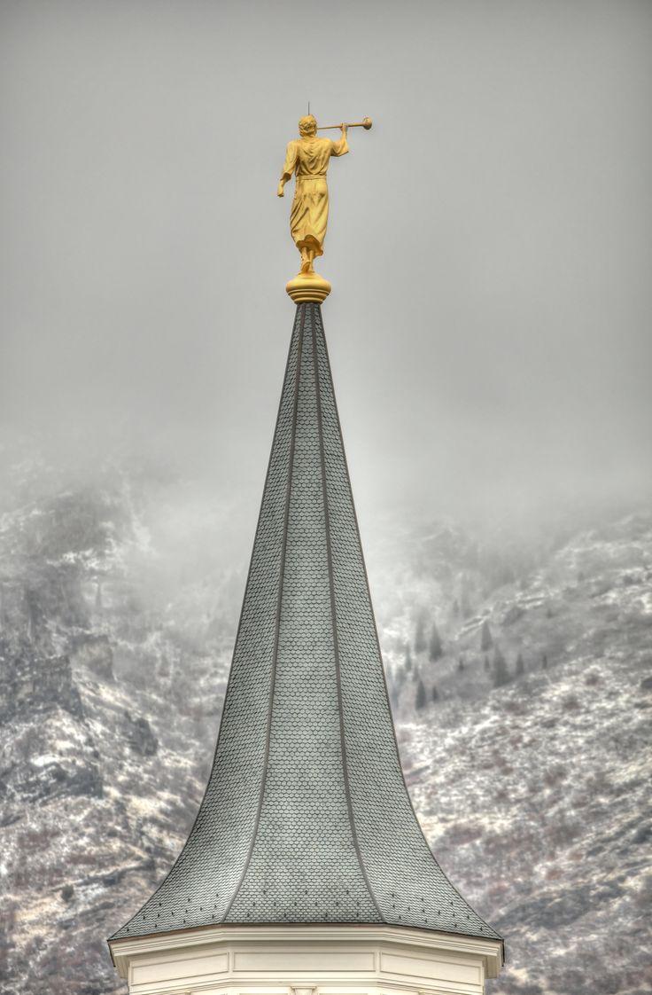 Provo City Center Mormon Temple in snowstorm #lds #ldstemples #provocitycentertemple