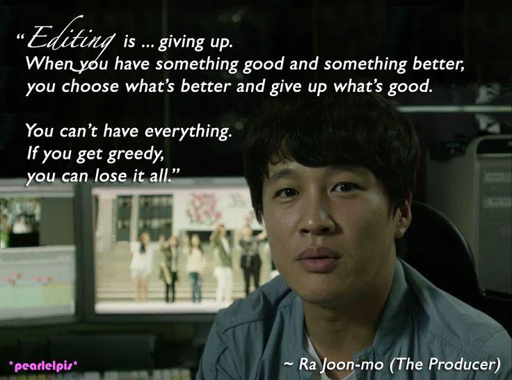The Producer quotes: Cha Tae Hyun as Ra Joon-mo (ep5)