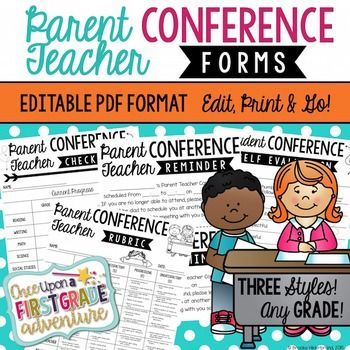 These Editable PDF Parent Conference Forms are just what you need to foster positive parent support in your students' education this year! Keep things simple by using the Parent Conference Forms as they are, or, personalize the forms to fit your personal teaching style and classroom needs!The Editable PDF Parent Conference Forms come in three designs that are perfect for any classroom!