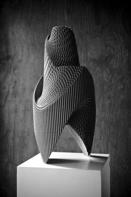 black and white Photography of Sculpture: Nurbs | Artist / Künstler: Mauro Rubio @ flickr |
