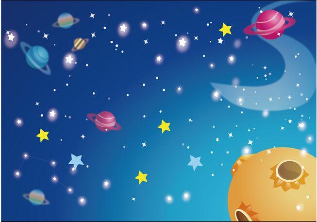Encargo papel de parede infantil grandes murales espacio - Papel de pared infantil ...