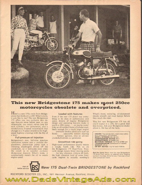 1965 Bridgestone 175 makes most 250cc motorcycles obsolete and overpriced