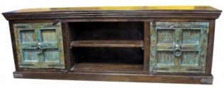 Rustic TV Stand :- Look at the distressed painted doors on this Old World Plasma TV Stand! Looking for that perfect media center for your plasma or flat screen TV? Here it is! 100% Solid wood with hand crafted hardware