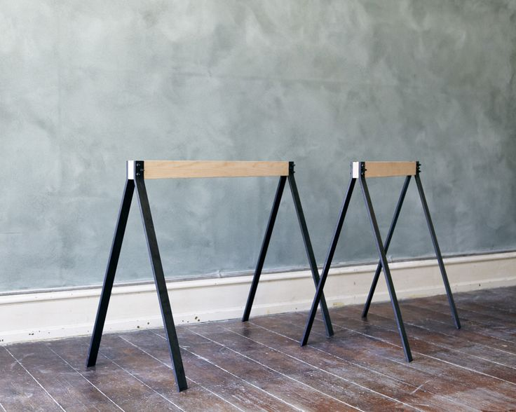 Frama wood metal trestles frama pinterest for Design tisch enzo