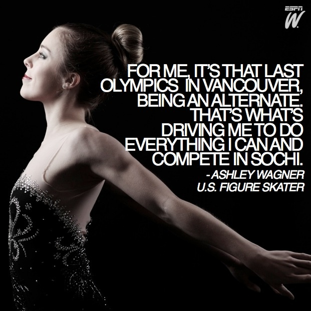 Ashley Wagner looks ahead to competing in the 2014 Sochi Winter Olympics.