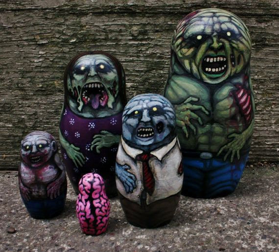 zombie nesting dolls - yes please