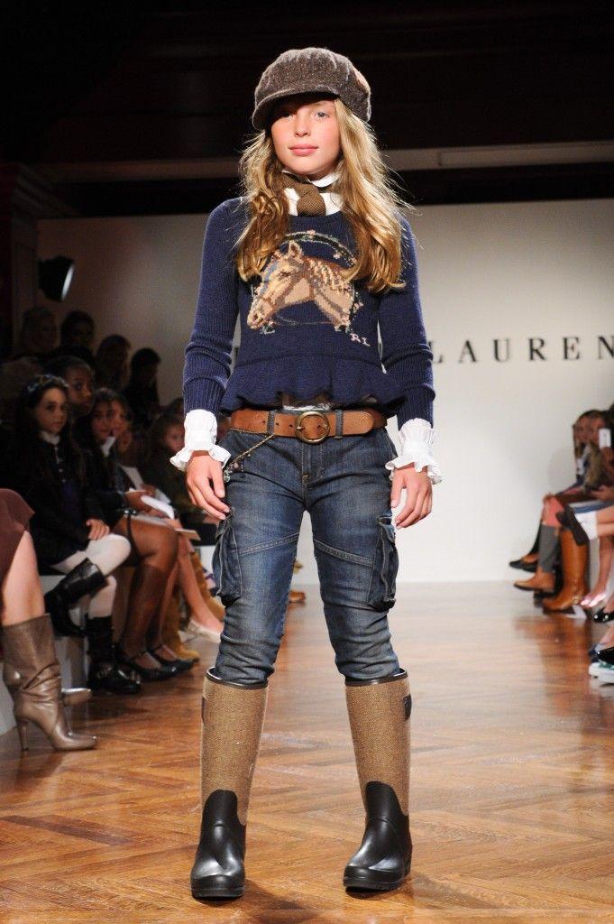 RALPH LAUREN Girls Fall & Holiday 2011 Fashion Show