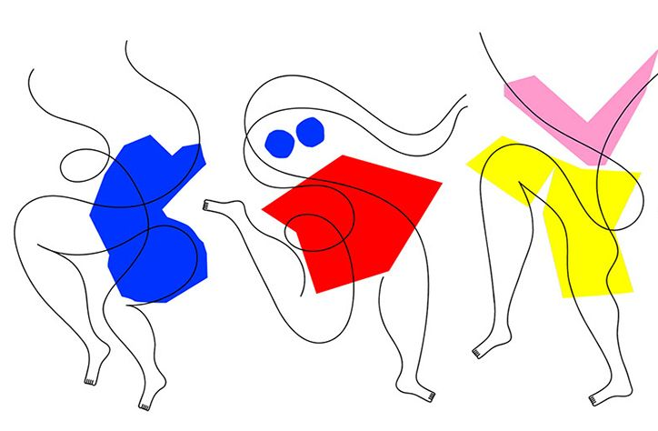 It's Nice That | Jonathan Calugi rings in September with reams of new work drawn with a single line