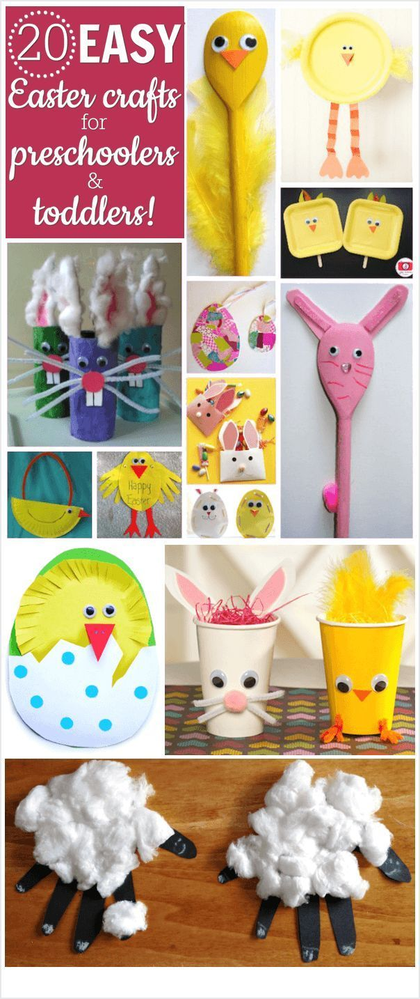 The Best Easter Crafts For Preschoolers And Toddlers Craft Ideas