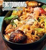 Яки удон - лапша удон, жаренная с морепродуктами и овощами, пошаговый рецепт с фото