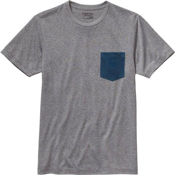 Patagonia Badge Recycled Pocket Responsibili-T-Shirt - Short-Sleeve ($35) ❤ liked on Polyvore featuring men's fashion, men's clothing, men's shirts, men's t-shirts, shirts, tops, mens t shirts, mens pocket t shirts, mens short sleeve shirts and patagonia mens shirts
