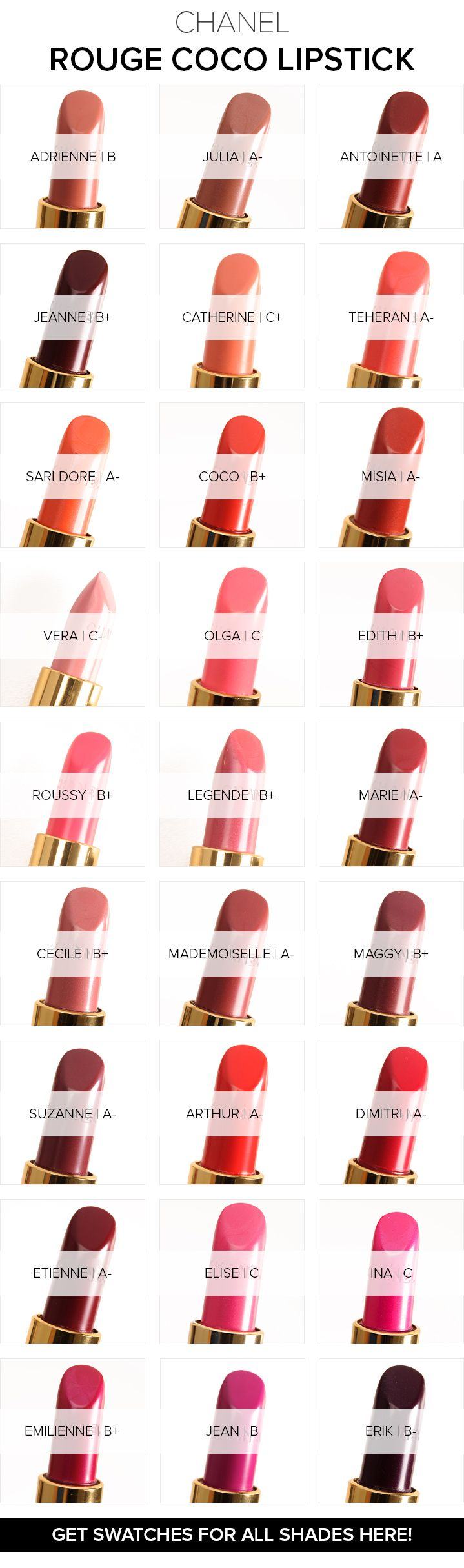 Chanel Rouge Coco Lipstick ($36.00 for 0.12 oz.) was reformulated this year and launched 29 shades. I've reviewed all 27 of the shades I had (a mixture of