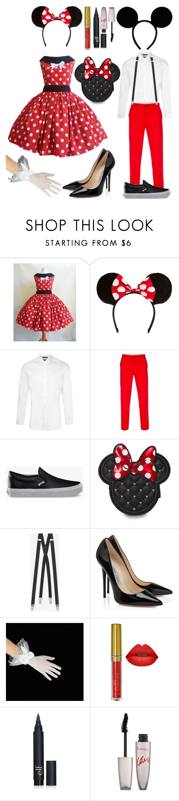 """Halloween Costumes: Mickey and Minnie Mouse"" by the-wanted-potato ❤ liked on Polyvore featuring Paul Smith, Vans, Yves Saint Laurent, Rimmel, women's clothing, women's fashion, women, female, woman and misses"