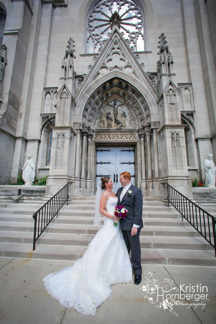 Gorgeous Couple Outside St Marys Catholic Church Where Her Parents Also Exchanged Their Wedding Vows