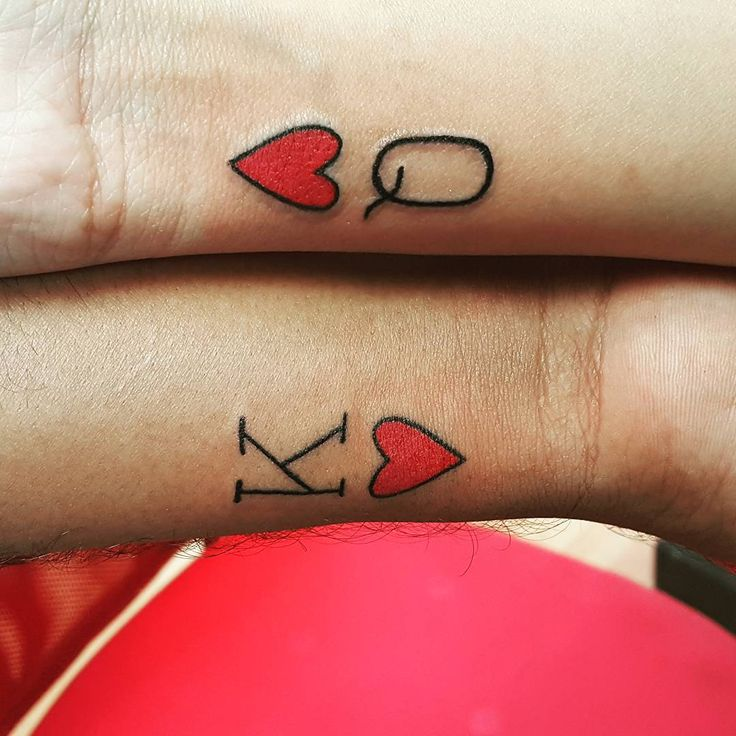 King and Queen of hearts tattoo