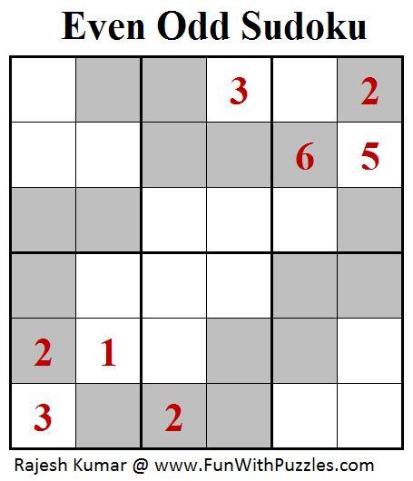 Even Odd Sudoku (Mini Sudoku Series #97)