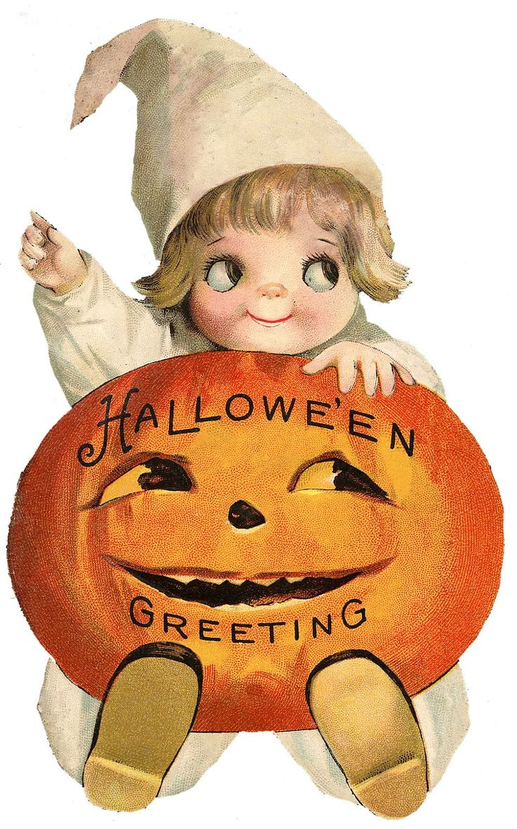 Vintage halloween decorations -  The Graphics Fairy Llc Vintage Halloween Clip Art Googly Eye Pumpkin Girl