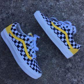 Yellow Checkered Custom – shoe ideas