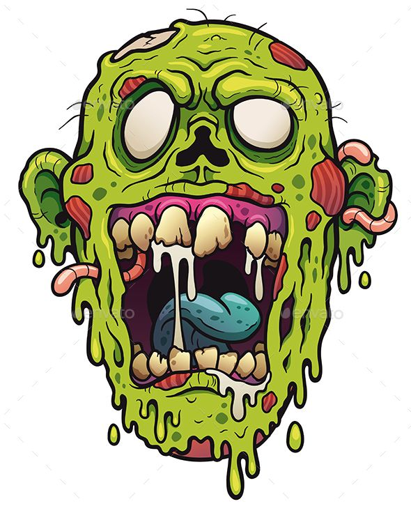 58f842a52b452 Vector illustration of Cartoon Zombie head | graphiciver in 2019 ...
