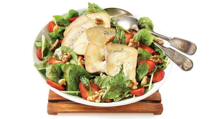 Salade Kale Fraises Fromage Bleu Miel
