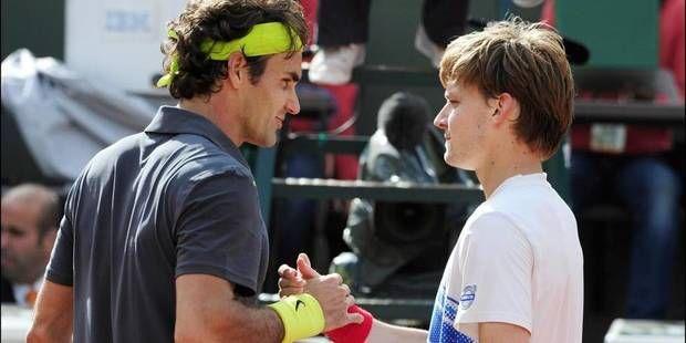 Roger Federer and David Goffin - qualifié pour la finale a Bâle