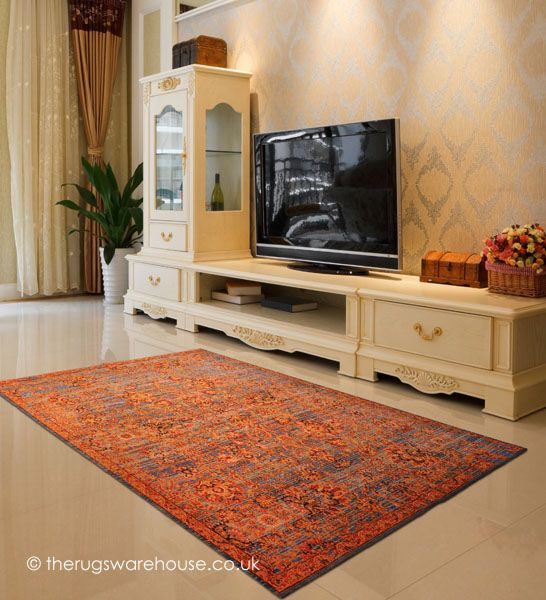 Yria Rug A Luxurious Feel Traditional Style Carpet In Blue Teal Sand