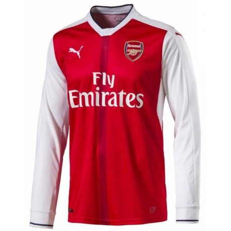 Maillot Arsenal 2016-2017 Domicile Manches Longues