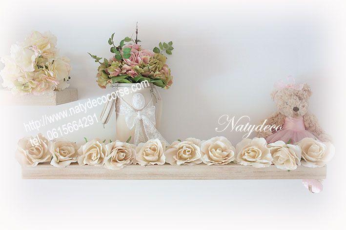 guirlande lumineuse de fleur en tissu peint par natydeco rose poudre ou cru http www. Black Bedroom Furniture Sets. Home Design Ideas