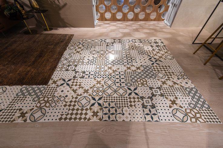 Arcana Tiles | Cersaie 2016 | Bologna | Arcana Ceramica | Bologna Fiere | Architecture and ceramics exhibition | Thalasa porcelain tile series | Palene Marfil 60x60 cm.