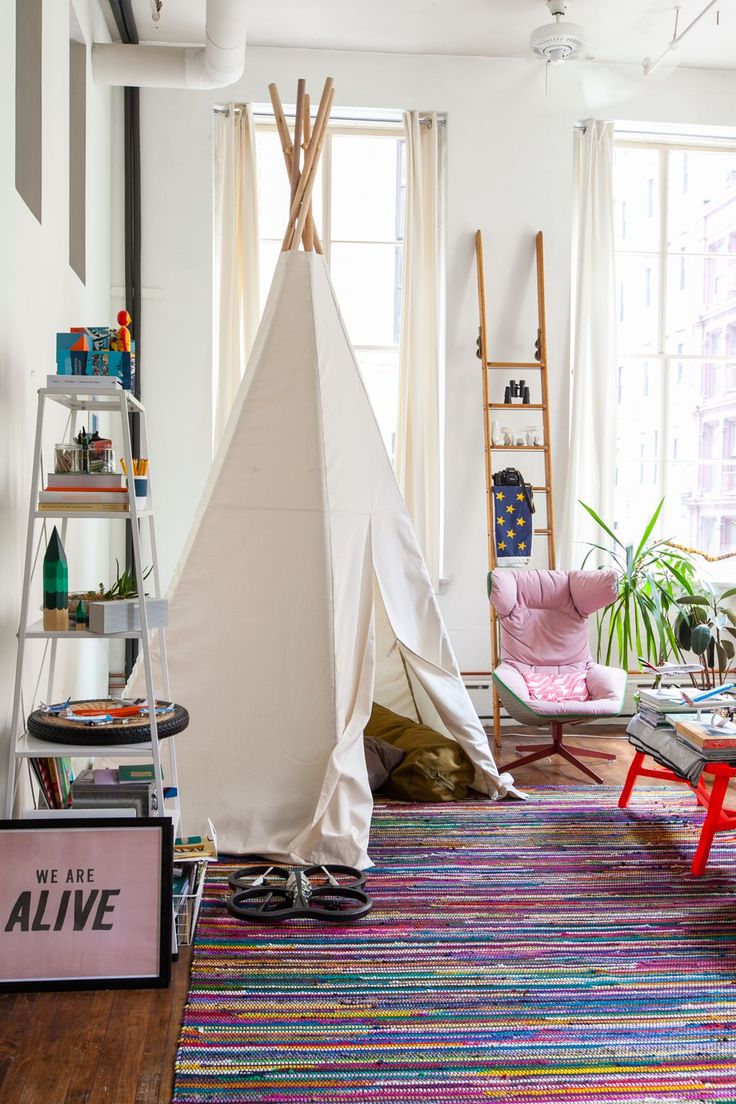 This playful NYC apartment photos make the home look like a grown-up playground