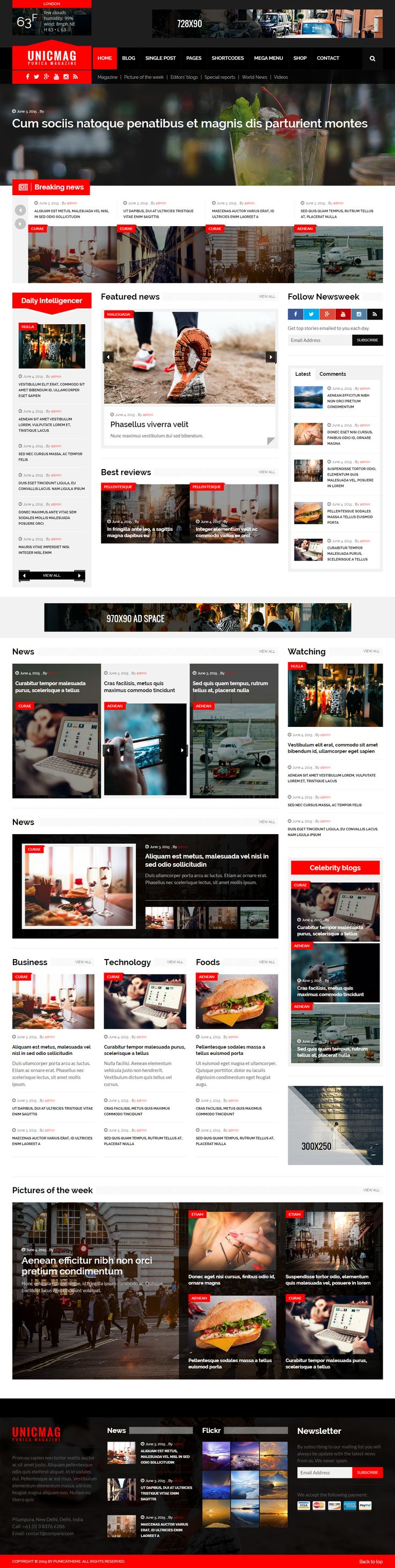 UnicMag is Premium full Responsive #WordPress #Magazine Theme. #RetinaReady. Bootstrap 3 Framework. WooCommerce. Google Fonts. Test free demo at: http://www.responsivemiracle.com/cms/unicmag-premium-responsive-magazine-wordpress-theme/