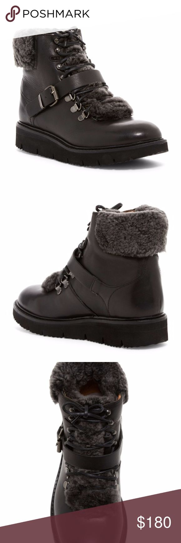Hudson London Adda Shearling Trimmed Boot Sz 6/37 Hudson London Adda Genuine Shearling Trimmed Boot Sz 6/37, new no box H By Hudson Shoes Ankle Boots & Booties
