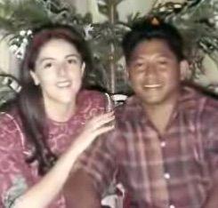 Barack Obama's mother (L) with Stepfather Lolo Soetoro, a Sunni Muslim.
