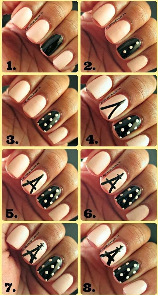 Pattern nail art designs fancy nail art for prom simple nail art lines - Chic Nail Tutorials For The Week Design Tutorialsnail Art