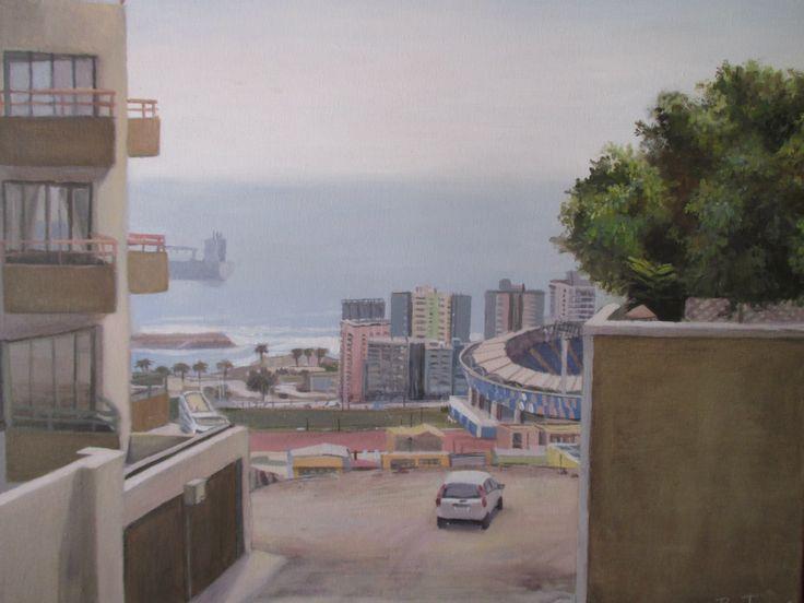 oleo sobre tela, Antofagasta,  Benjamin Contador
